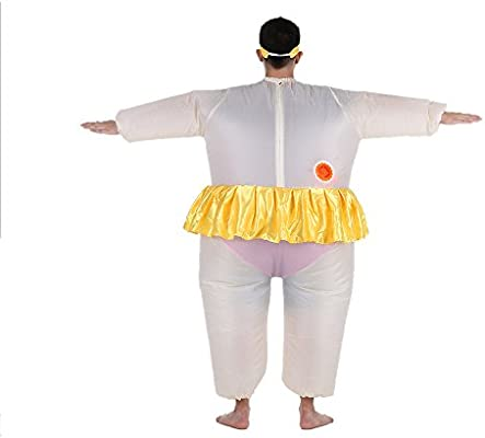 5cb1ee0ffe15 Amazon.com  Anself Ballerina Inflatable Costume Fat Suit Blow Up ...