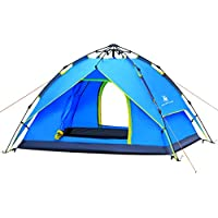 HuiLingYang Pop Up Outdoor Camping Tent, Waterproof 4...