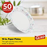 Glad Round Disposable Paper Plates for All