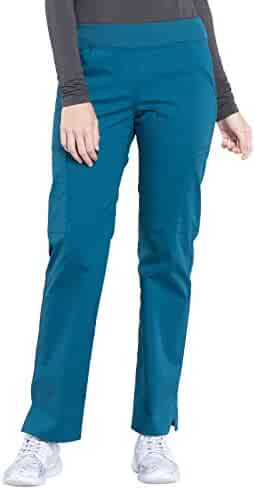CHEROKEE WW Professionals WW170 Women's Straight Leg Pull-On Pant