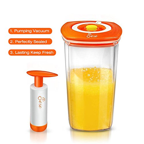 JESE Premium 750ml Food Storage Containers with Locking Lids Durable Vacuum Sealed Juicer Storage