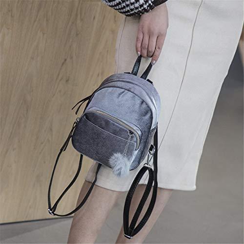 Donna Skitor Scuola Ragazze Zaino Zaini Fashion Superiore Piccoli Grey Pelle Impermeabile Leggero Vintage Antifurto Eleganti Casual Classici drwFqB4xr