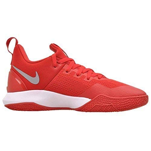 NIKE Men's Zoom Shift University Red/White Nylon Basketball Shoes 8 D(M) US