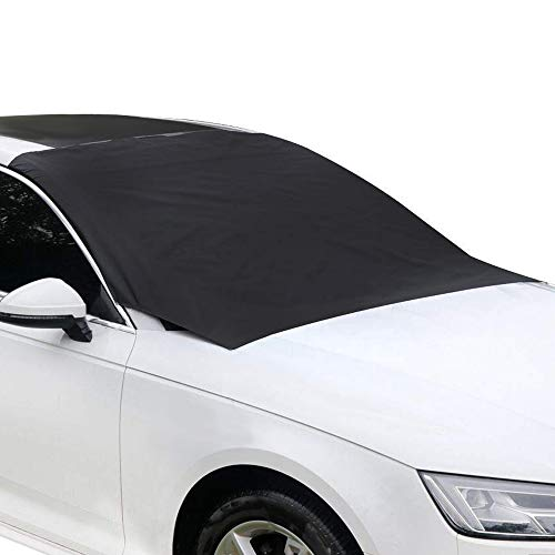 Ubabe Windshield Snow Cover,Magnetic SUV Car Snow Cover Snow Ice Frost Auto Cover Fit for Cars Trucks Vans and SUVs (82.7 x 47 in)