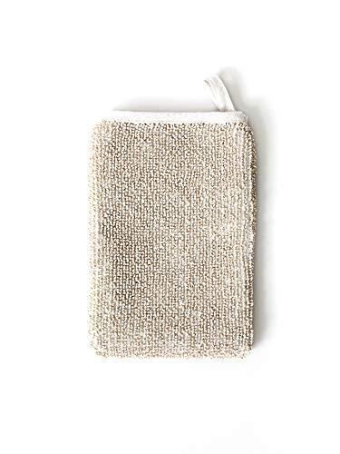 Sasawashi Deep Exfoliating Washi Paper Body Scrub Mitt (Linen Scrubs)