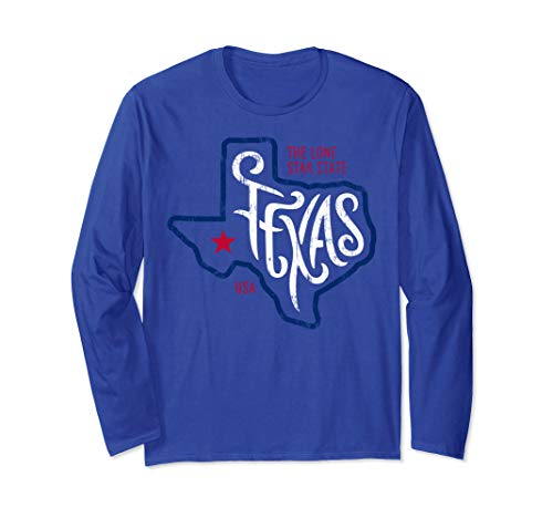Vintage Texas The Lone Star State Don't Mess With Shirt Tee Long Sleeve T-Shirt