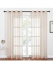 NICETOWN Sheer Curtains - Voile Drapes Door Curtains Sheer 2 Panels Set