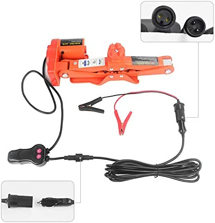 ZERTRAN DC12V Electric Impact Wrench /& Electric Hydraulic Jack 5 Ton Auto Car Hydraulic Jack Lift Equipment for The Replacement of SUV and Car Wheels