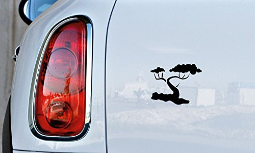 Tree Silhouette Version 1 Car Vinyl Sticker Decal Bumper Sticker for Auto Cars Trucks Windshield Custom Walls Windows Ipad Macbook Laptop and More (BLACK)