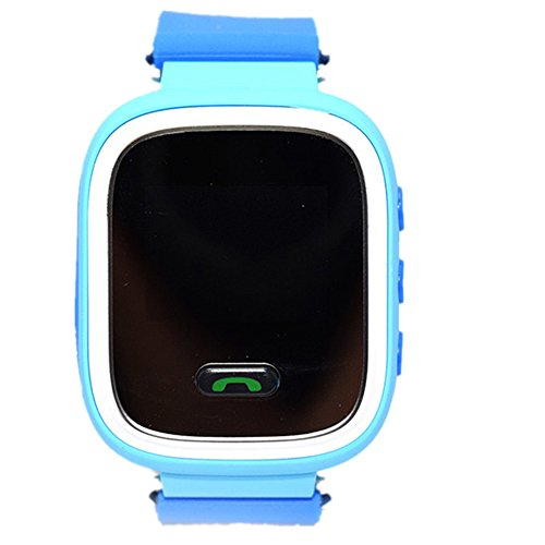 Q90 Touch Screen Smart Baby Watch GPS Tracker for Kids Smartwatch Ant For Phone Blue