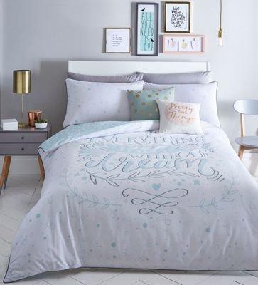Debenhams Home Collection Basics Green Printed 'Dreams' Bedding Set King
