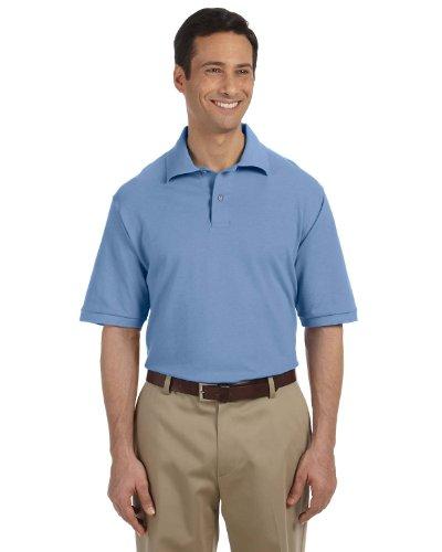 (A&E Designs mens 6.5 oz. Ringspun Cotton Pique Polo(440)-LIGHT BLUE-2XL)