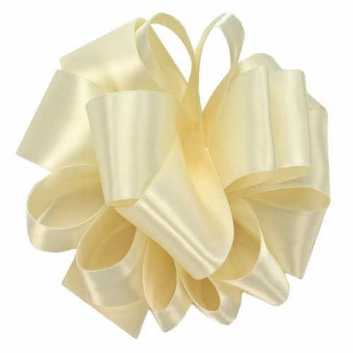 Ivory Double Satin Offray Ribbon (Offray Double Face Satin Craft Ribbon, 2 1/4-Inch x 9-Feet, Ivory)