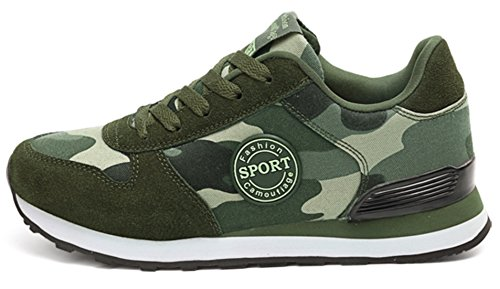 Running DADAWEN Trekking up Trainers Hiking Camouflage Footwear Camouflage Lace Women's Shoes amp; Road vXq4rv
