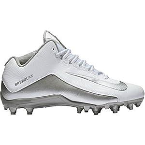 NIKE Men's Speedlax 5 Men's Lacrosse Football Cleat - White/Silver (11.5 D(M) US, White/Mtllc Silver)