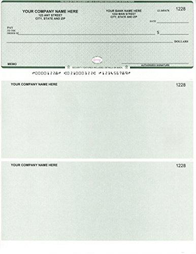 Computer Checks - 250 Printed Laser Computer Voucher Checks - Compatible for QuickBooks/Quicken Software - Scalop (250 Checks)
