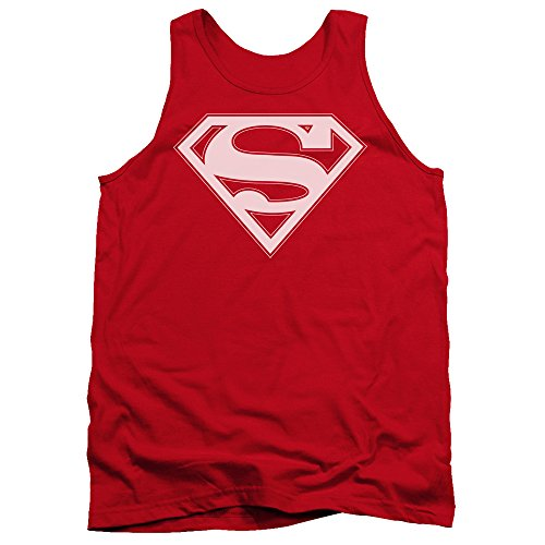 Superman+tank+tops Products : Superman DC Comics Red & White Shield Adult Tank Top Shirt