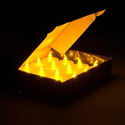 agptek 100 battery operated led amber flameless. Black Bedroom Furniture Sets. Home Design Ideas