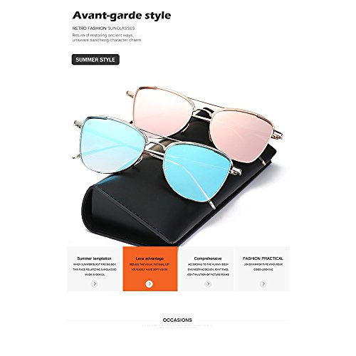 Sol Las Compras Ultravioleta Ocasionales De Gafas Pink Las De Gafas Metálico Sol Forman Silver del Mujeres Marco vXqYXFA