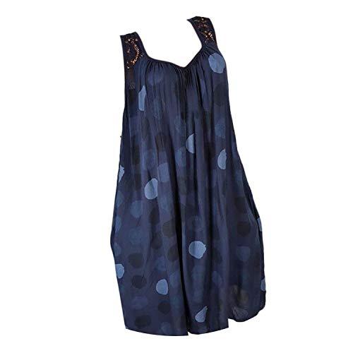 Dress Women Back Lace Sleeveless Tank Dress Beach Mini Dress Casual Loose ()