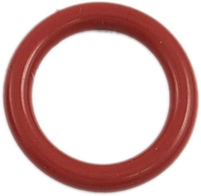 uxcell 10 Pcs 21mm OD 3mm Thickness Red Silicone O Ring Oil Seals Gaskets