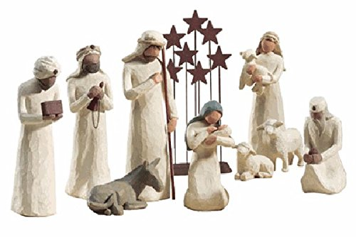 - Willow Tree 10 Piece Starter Nativity Set By Susan Lordi with Go Green! Compressed Bamboo Towels