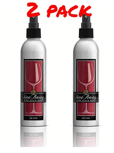 Quantity of 2-8 oz. Wine Away Red Wine Stain Remover Aluminum Bottles Signature Collection