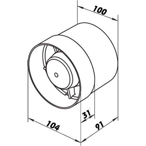 verengt 100mm Rohrl/üfter//Einschubl/üfter VKO