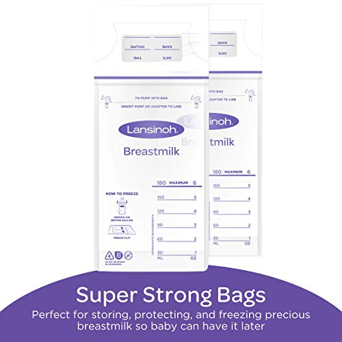 Lansinoh Breastmilk Storage Bags, 100 count