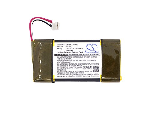 1900mAh Li-Polymer High-Capacity Replacement Batteries for Sony SRS-X33c fits Sony ST-03