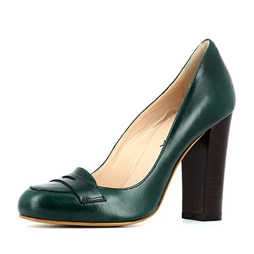 Evita Shoes Cristina - Zapatos de vestir de Piel para mujer verde oscuro