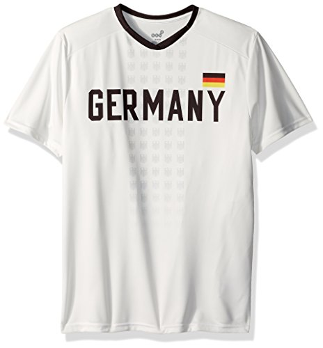 Soccer International Jersey (OuterStuff World Cup Soccer Germany Mens -Federation Jersey Short sleeve Tee, White, Medium)