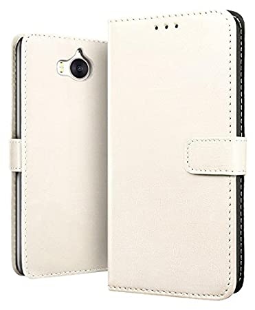 Amazon com: Leather Wallet Flip Case For Huawei Y5 2017