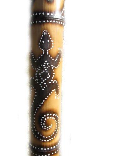 Hand Crafted, Fire Roasted Didgeridoo - Lizard