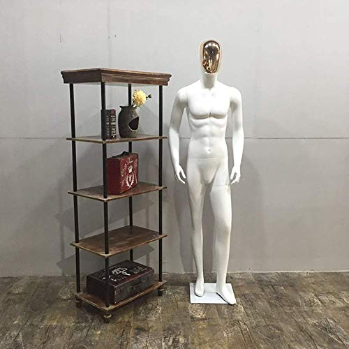 (Tehok Standing Male Adult Mannequin Matching Storefronts in Multiple Poses White, Made of FRP Material,C)