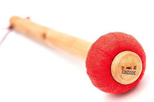 Carrotmusic Model WP-PR-25DST01 Solid Pine 25cm Standard level Gong Mallet by carrotmusic