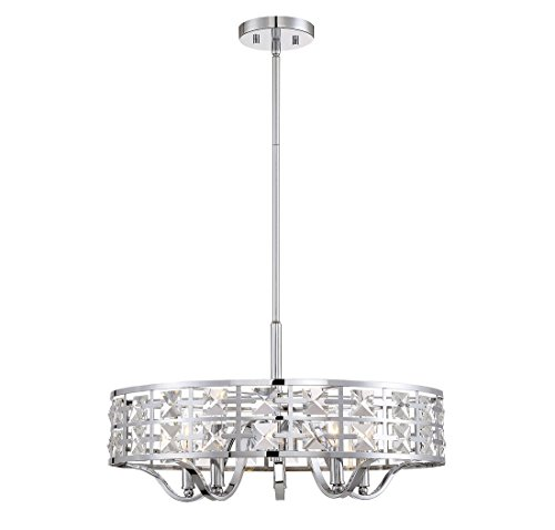 Drum Pendant Light With Crystal in Florida - 5