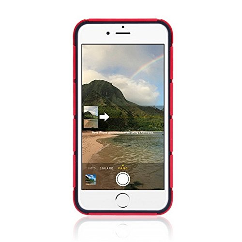 Phone Taschen & Schalen Tank Serie PC + TPU Stoßfänger Kombi Case für iPhone 6 Plus & 6S Plus ( Color : Red )
