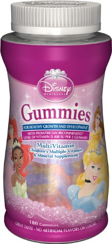 DISNEY PRINCESS MULTIVITAMIN - BONBONS MULTIVITAMINES ENFANTS - 180 BONBONS