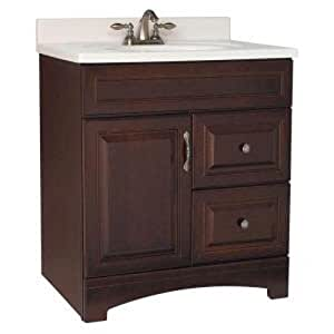 American Classics by RSI GJVM30DY Gallery 30-Inch Vanity Cabinet Only, Java