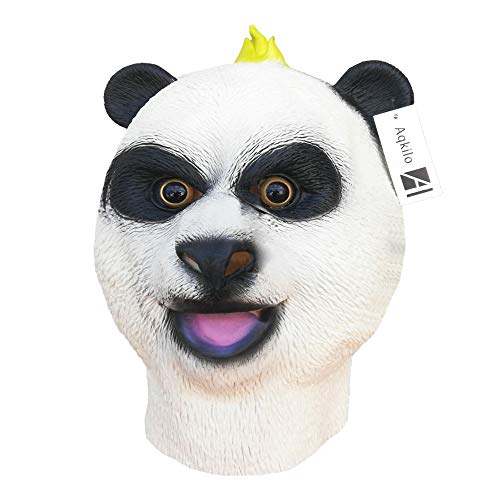 Aqkilo Panda mask Latex Animal Head mask Halloween Costume