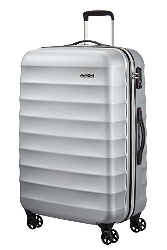 American Tourister Koffer, 77 cm, 89 Liters, Metallic Silver