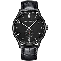Betfeedo Men's Luxury Leather Analog Watch (Several Colors)