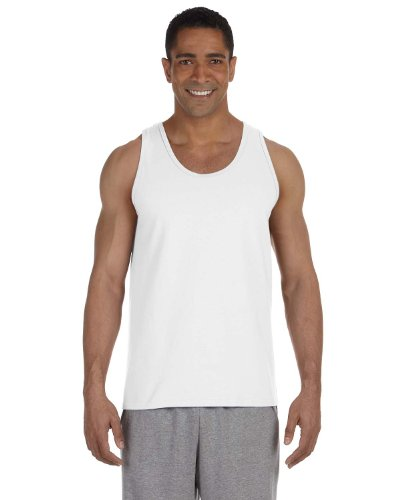 Gildan Ultra Cotton Adult Tank Top, White, - Gildan Tank Top Cotton