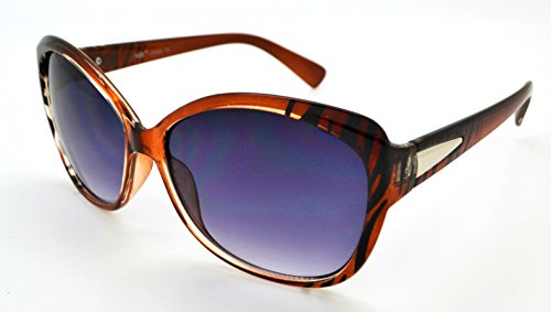 VOX Trendy Classic Womens Hot Fashion Sunglasses w/FREE Microfiber Pouch - Brown Zebra Frame - Brown - Sunglasses Chanel Fake