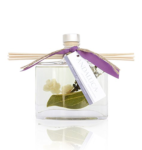 - Andaluca Amber Lavender Reed Diffuser | Large 5.5 Fluid Ounce Bottle | Relaxing Scents of Lavender, Amber, Mint, Geranium and Sage | w/Essential Oils | Scented Home Fragrance