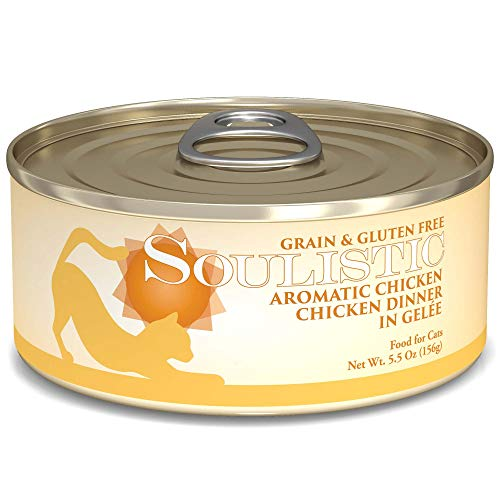 Soulistic Aromatic Chicken Chicken Dinner in Gelee Wet Cat Food, 5.5 oz, Case of 8, 8 X 5.5 OZ
