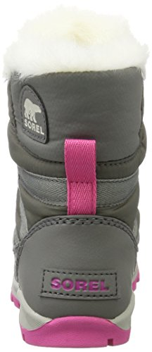 Sorel Youth Whitney Short Lace Boot Quarry/Pink Ice (4.5 Big Kid) by SOREL (Image #2)