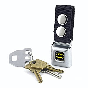 Buckle-Down Keychain - Batman Full Color Black/yellow Accessory at Gotham City Store