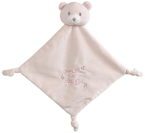 (Baby GUND x Little Me Thank Heavens Lovey Stuffed Animal Plush Blanket, Pink, 12